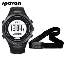 Spovan GL006 Sports Digital Watch GPS Navigation Heart Rate Monitor + Bluetooth 4.0 Chest Strap 3D Fitness Men Women Wristwatch(China)