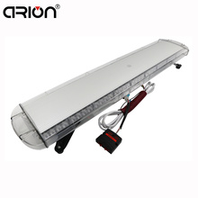 "CIRIONHot 42"" 108cm 80 Led Emergency Vehicle Strobe Lights Warning Police Flash Warning light Bar White Amber 12V/24V 15 Modes"
