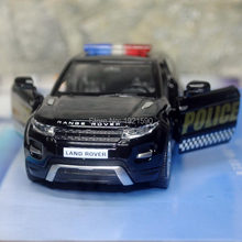 Brand New UNI 1/36 Scale UK L-andr0ver Evoque SUV Police Edition Diecast Metal Pull Back Car Model Toy For Gift/Collection/Kids