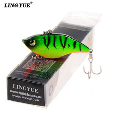 New 1pcs Boxed Fishing Lures 5cm/15g VIB Bait Artificial High Quality Wobbler Fishing Tackle 5 Colors Plastic Crankbait lure(China)