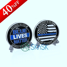 1-10pcs/lot New custom hero commemorate medal coins silver plated US flag blue lives matter challenge coins collectibles 50*3mm