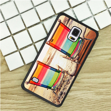 Beach Chairs Sunset TPU Phone Cases For Samsung Galaxy S3 S4 S5 mini S6 S7 Edge S8 plus Note 2 3 4 5 Cover Soft(China)