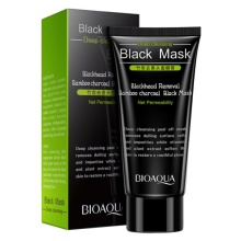 High Quality Black Head Remove Shrink Pores Natural Bamboo Charcoal Mask Blackhead Purifying Peel Off Black Face Mask(China)