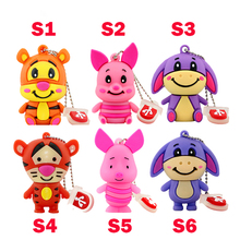 Cute animal donkey tiger pig U Disk pen drive 8GB/16GB/32GB/64GB usb flash drive flash memory stick pen drive best gifts