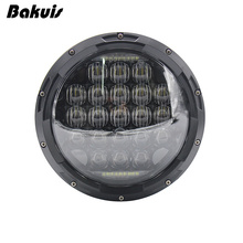 Bakuis 7inch 5D LED Headlight 126W Round H4 Headlamp For Jeep Wrangler Hummer Harley Motorcycle ( Pcs)(China)