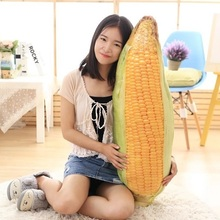 2017 New 3D Simulation Corn Plush Pillow Toy Realistic Corncob Cushion Doll 30cm - 100cm Free Shipping 1pcs Children Present Big