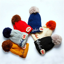 2017 Hot Sale Spring Autumn Winter Baby Boys Girls Warm Beanie Hat Baby Cap Fall Winter Infant Children Wool Knit Hat Shape(China)