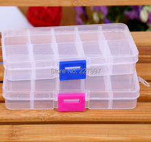 300pcs/lot Free Shipping Wholesale Clear Jewelry Beads Container Storage Plastic Box 10 Compartments
