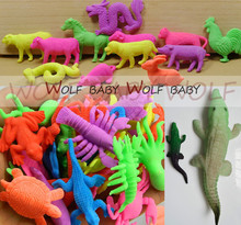 300pcs/lot 14 patterns wholesales ocean animal growing toy Marine biology Plastic toys sea animals toy Soaking expansion 2015(China)