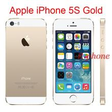 "Original 4G iPhone 5S Gold Mobile Phone Dual Core 4"" 8MP WIFI 3G iPhone5s Unlocked Cellphones Used(China)"