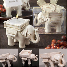 Lovely Wedding Party Bridal Favor Lucky Elephant Tea Light Candle Holder Gift