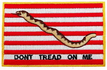 DON'T TREAD ON ME US NAVY JACK FLAG iron-on PATCH AMERICAN embroidered GADSDEN