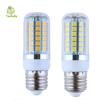 Tanbaby 5pcs x 15W E27 SMD 5050 led bulbs 69 led SMD corn bulb with cover outdoor led lighting bulb AC220V lampada for home