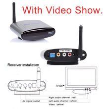 Sainsonic New PAT-330 2.4GHz Wireless AV Sender TV Audio Video Transmitter Receiver for DVD DVR STB IPTV 150M Free Shipping(China)