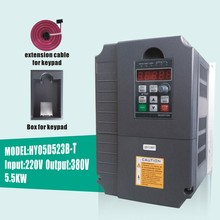 HUANYANG VFD Inverters AC drive 5.5KW motor Input Voltage 220V Output Voltage 380V VARIABLE FREQUENCY DRIVE FREE SHIPPING(China)