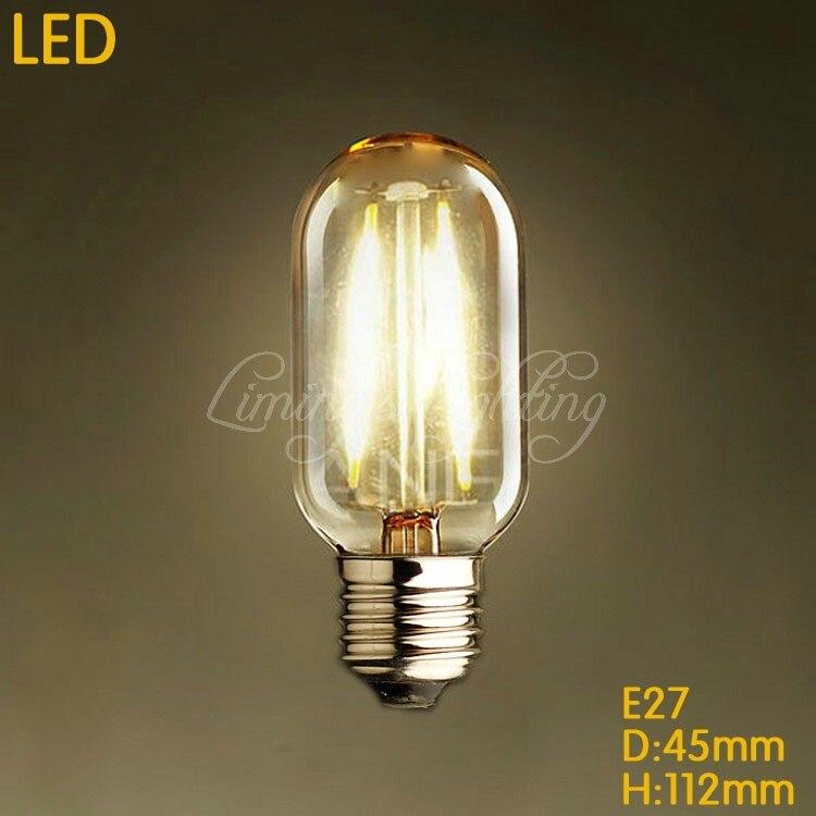 T45 Retro LED bulb Transparent Edison Filament Light Bulb 220V E27 2W4W 360 Degree Energy saving replace incandescent bulb lamp<br><br>Aliexpress
