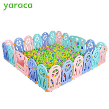 Baby Playpen Plastic Fence Safety Protector Kids Safety Barriers Fencing For Children Indoor Game Play Yard Playpen Baby Fence(China)