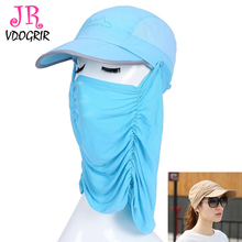 VDOGRIR 2017 New Summer Sun Hat Sunscreen Ride Drive Women Men Neck Face Portection Flap Hat Mask Adjustable Magic Caps 5 Colors(China)