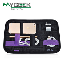MyGeey Travel bag Mobile Phone Pouch Digital Storage bags for iphone 5 6 6s 7 cable Pouch headphone mobile charger storage plate