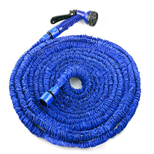 BLUE 100FT Expandable Magic Flexible Hose Water for Garden Car Pipe Plastic Hoses to Watering with Spray Gun(China)