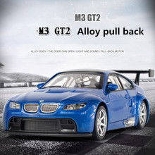 1:32 Alloy Pull Back Car Models,Metal Diecasts,M3 GT2 Toy Vehicles,Musical & Flashing, Alloy Car Models,Classical Cars Collectio