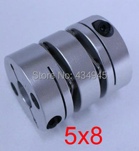 5x8 5mm 8mm Double diaphragm Disc coupling ,electric coupler screw rod Stepper servo motor encoder shaft coupling D26 L35(China)
