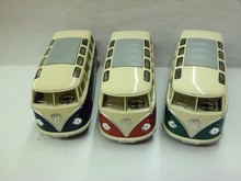 Diecast minibus alloy car model toy 1:24 KT open the door school bus(China)