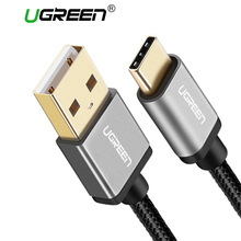 Ugreen Nylon USB Type C Cable for Xiaomi Mi5 Type-C Fast Charging Data Cable for Samsung Galaxy S8 Nexus 5X 6P OnePlus 2 USB C(China)