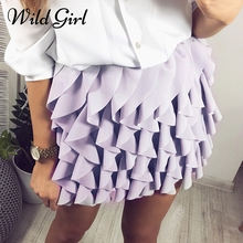 Buy Ruffle pleated women sexy skirt Summer style mini high waist skirt Female spring fashion streetwear short mini skirt bottom 2018 for $12.34 in AliExpress store