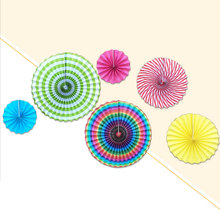 Paper Fan Folding Hanging Glitter Tissue Colorful Party Decoration Baby Shower(China)