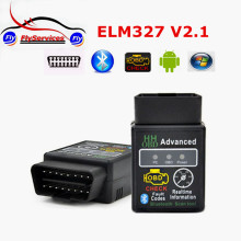 2017 New arrival Version 2.1 ELM327 HH OBD Advanced MINI ELM 327 V2.1 Black Bluetooth OBD2 Auto Car Adapter Scanner Tool