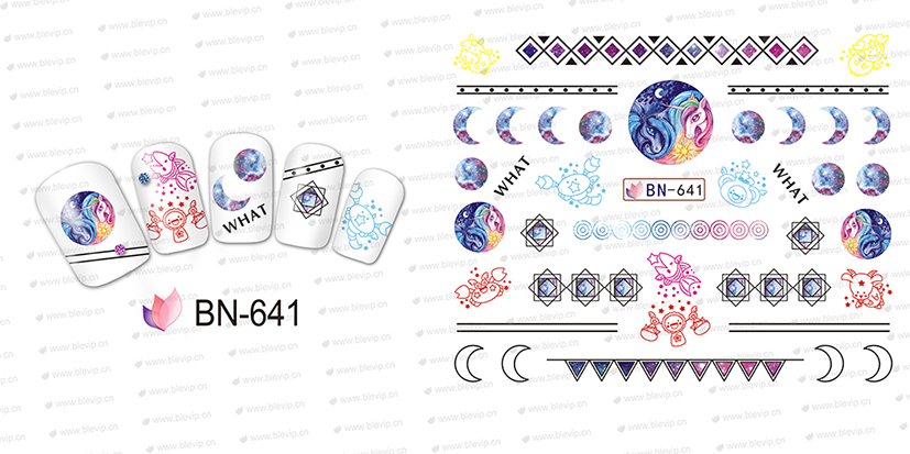 12-PACK-LOT-WATER-DECAL-NAIL-ART-NAIL-STICKER-FULL-COVER-CARTOON-MYTH-UNICORN-FLYING-HORSE