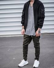 2017 men hip hop sweatwear pants with side zipper mens Fear of God joggers mens sporting pants