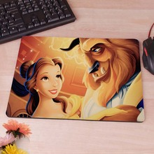Beauty And Beast Rubber Soft gaming mouse Cool Games black mouse pad