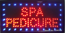 2017 Graphics New Neon Spa Pedicure open sign eye catching Flashing Lights Animated Led  Sign 10X19 inch- Wholesale
