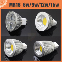 Dimmable MR16 LED Spotlight Aluminum Body AC 12V DC12V High Power Light Bulb Lighting Lamp 6W 9W 12W 15W