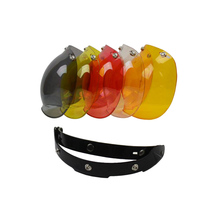 Free shipping Bubble visor Top Quality Open face Motorcycle Helmet Visor 9 Color available Vintage Helmet windshield Shield
