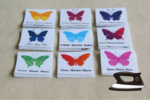 84 Name Tags with Colorful Butterflies ,Clothing Labels, personalized iron on labels for children's clothing (kids' labels)
