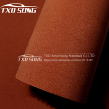 Real suede fabric material Brown Color Velvet Film car wrapping velvet vinyl film Automotive Decals sticker 10/20/30/40/50/60CM