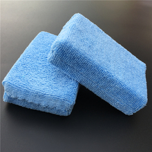 5 PCS Car Care Premium Grade Microfiber Applicators Sponges,Cloths,Microfibre Hand Wax Polishing Pad