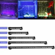 5 Size Long Life Lower Wattage High Efficiency Energy Saving Aquarium Tank Light Bar LED Series Remote Control Bubbles Light(China)