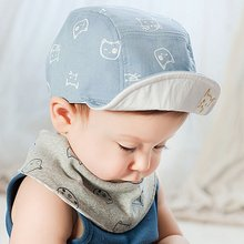 Summer Sweet Toddler Baby Cat Pattern Cap Hat Bonnet Cotton Outdoor Sun Hat 4M-18M