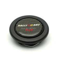 Carbon fiber Racing Ralliart Steering Wheel Horn Button For Mitsubishi(China)