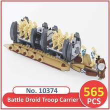 BELA Building Blocks 10374 Model Starwars Battle Droid Troop Carrier 75086 Compatible Figure Legoed Toys For Children(China)
