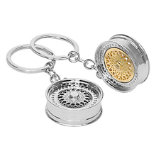 Metal Keychain Key Ring Key Chain High Quality Auto Accessories Car Wheel Rim Model BBS Wheel Hub Keyring Decors(China)