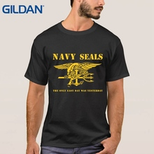 Size Navy Seals - The Only Easy Day Was Yesterday Lowest Black T Shirt For Men Tee Shirts Shop Sales Online(China)