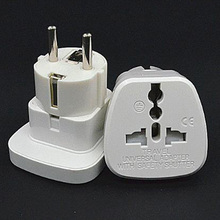 Universal white 10A 250V AU US UK to EU Power plug with security door Germany France Indonesia converter adapter plug