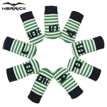 Herrick Stripe Golf Irons Headcover Knitting Wool Unisex Golf Club Iron Set Heads Covers $4-9PAS 9ps/set 2 Colors