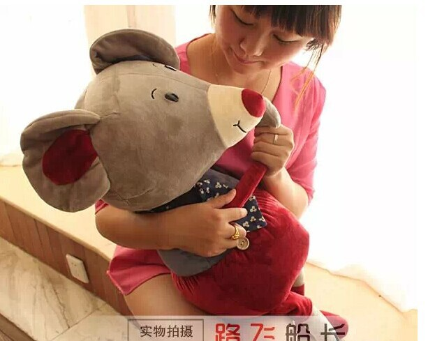big lovely plush mouse toy creative tie mouse doll birthday gift about 80cm<br>