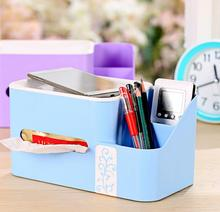Multi-Function Storage Box Plastic Storage Bins Car Creative european-style tissue box office Storage box home organizer(China)